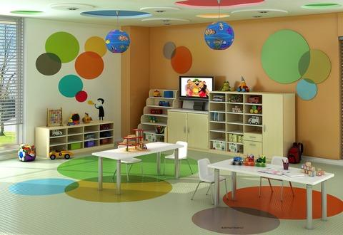 Contemporary Kids Room with children s tables and chairs