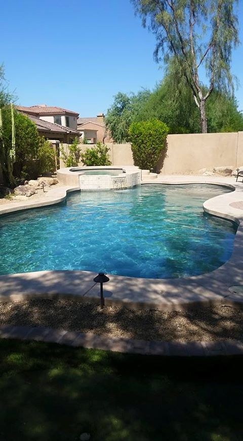 Casual Living Pools : Casual / Comfortable Pool in New River - brick lawn edging ...