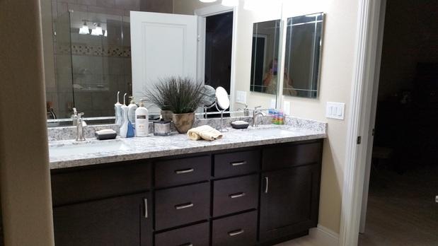 Transitional bathroom in las vegas medicine cabinet Bathroom cabinets las vegas