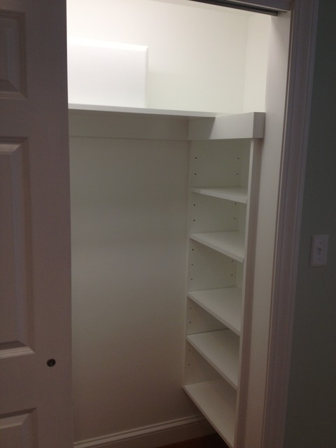 Contemporary Closet with adjustable shelves