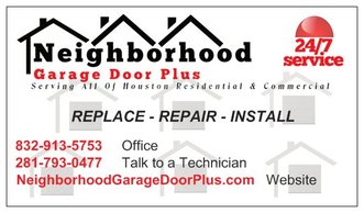 neighborhood garage doorNeighborhood Garage Door Plus  Katy TX 77449  HomeAdvisor
