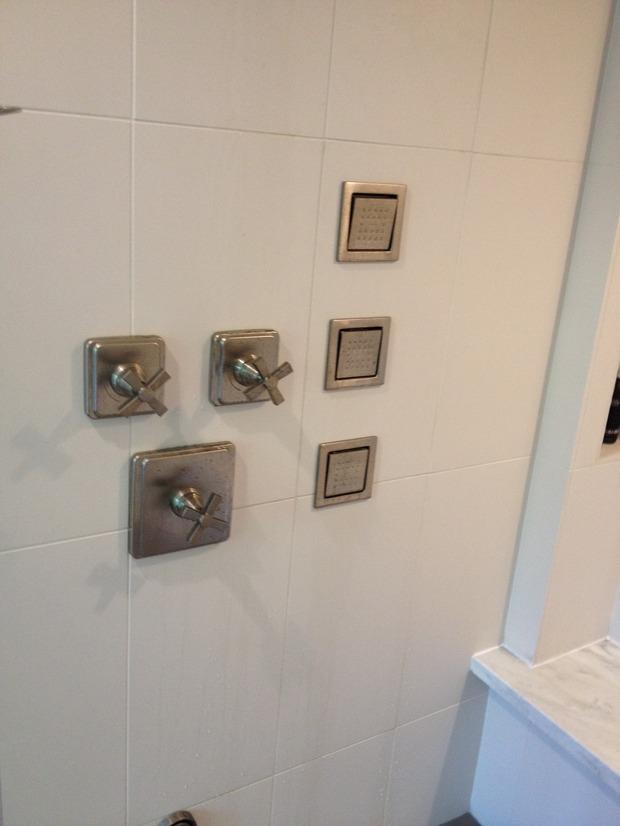 Modern Bathroom In Houston Chrome Fixtures Body Sprays By Al 39 S Plumbing Co