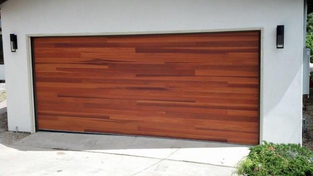 Modern garage in fort worth black outdoor wall sconces for Fort worth garage doors