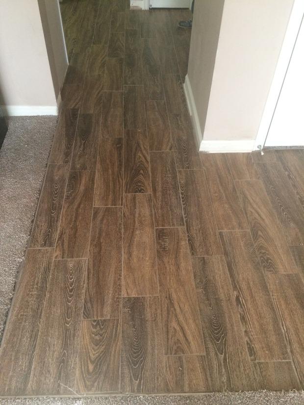 Traditional Entry In Denver Brown Carpet Wood Grain Ceramic Tile