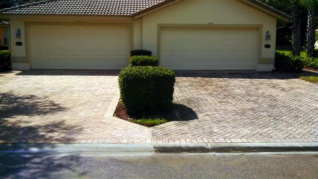 Southwestern Driveway In Cape Coral Tan Trim Clay Tile Roof By Nuclear Window And Pressure