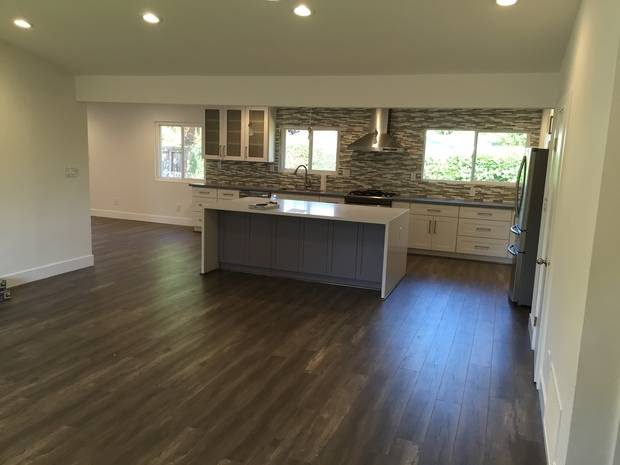 Contemporary Kitchen In Concord Wood Floor White Baseboards By Green Bay Remodeling Inc