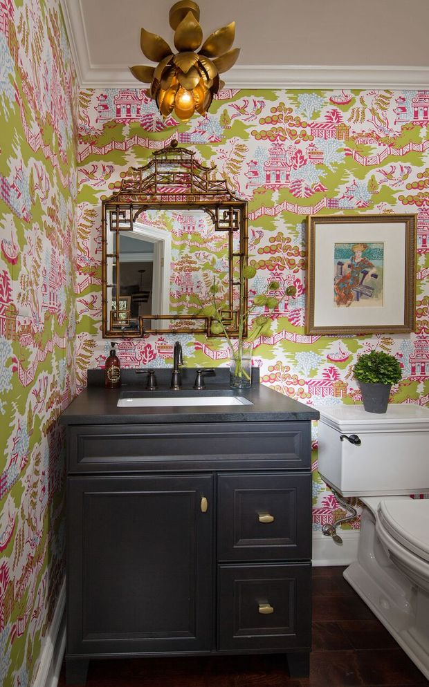Eclectic Bathroom In Ashburn Two Piece Toilet White Ceiling By Mary Meade Sampson Interior