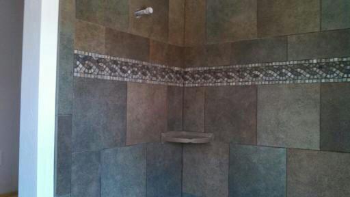 Art Deco Bathroom In Durango Tile Shower Walls Braid Pattern - Art deco mosaic tile patterns