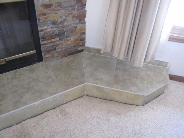 Contemporary Fireplace In Durango Carpeted Flooring Stone Veneer - Fred's floor tile