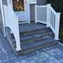 Cottage Driveway with white vinyl handrail
