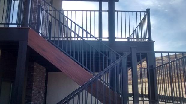 Contemporary Deck In Colorado Springs   Deck Staircase, Wood Stair Skirt  Board   By Vrolijk Custom Homes, LLC