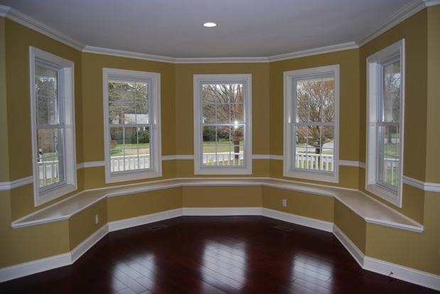 Colonial Den In Williamsport Window Seat Chair Rail By Pennsylvania Drywall