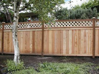 Cedar Fence With Lattice Top In Mercer Island Pictures And