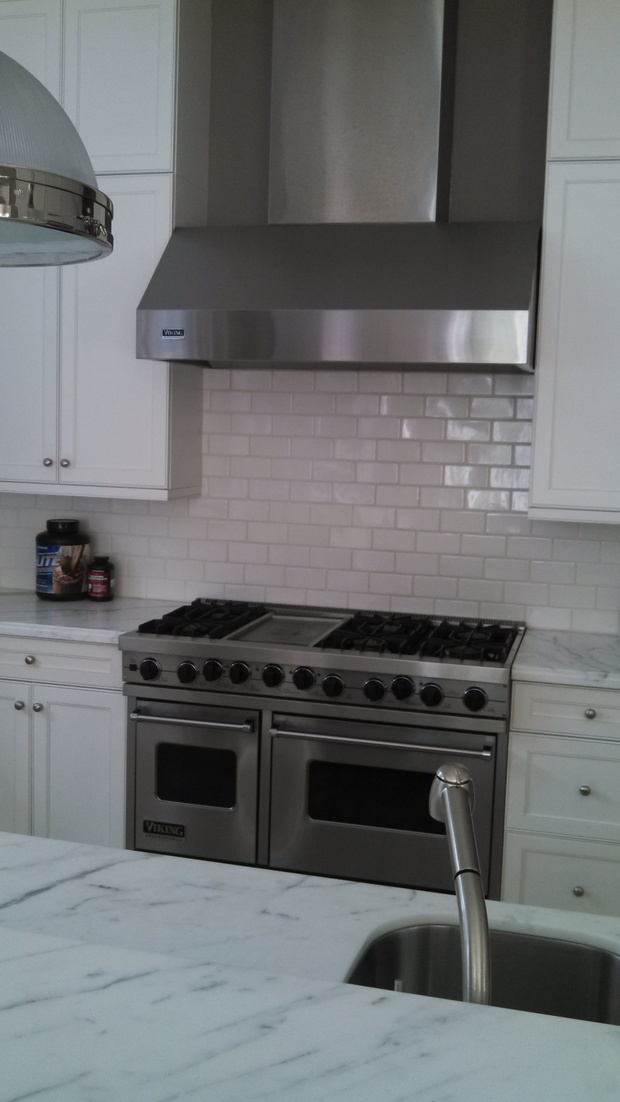 Transitional Kitchen in Fort Lauderdale - marble countertop