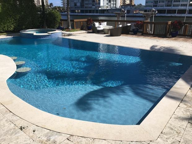 Mediterranean pool in fort lauderdale river vertical for Pool design fort lauderdale
