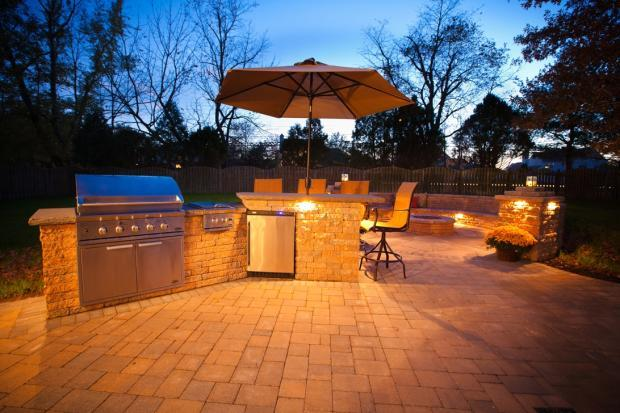 Traditional Patio In Glassboro Stainless Steel Grill In
