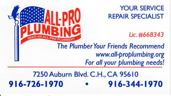 All Pro Plumbing Citrus Heights Ca 95610 Homeadvisor