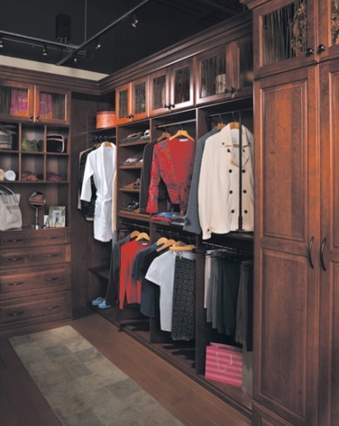 Traditional Closet with oil rubbed bronze hardware