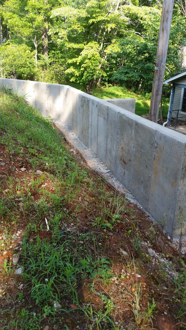 Concrete Buttress Wall Design : Traditional landscape in lawrenceburg unfinished