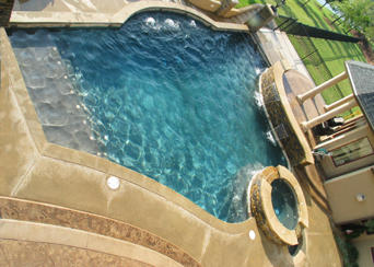 Waterfall Pool With Spa Pictures And Photos