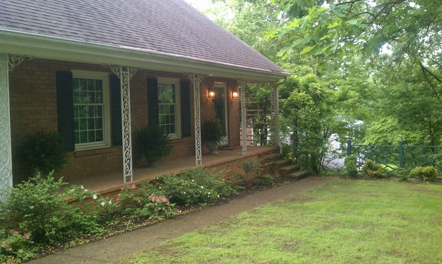 Colonial Home Exterior In Roanoke Gray Asphalt Roof Shingles Covered Porch By Star City