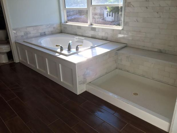 Contemporary Bathroom In Littleton Light Gray Painted