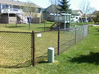 First Brown Vinyl Chain Link Fence This Year Pictures And