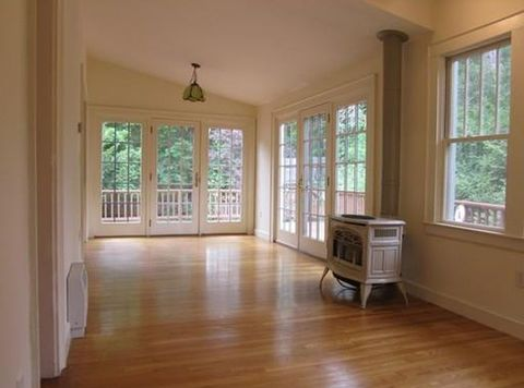 Transitional Sunroom with 4 over 1 craftsman style double hung window
