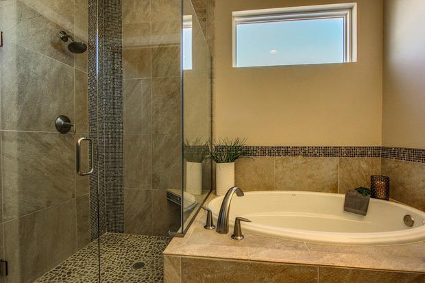 Contemporary Bathroom In Albuquerque Wall Tile Frame