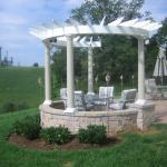 Traditional Gazebo with circle gazebo like outdoor seating area