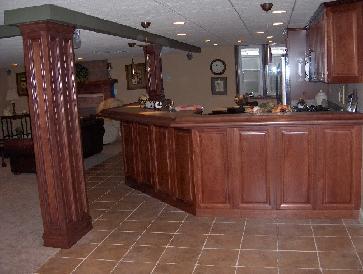 WAFER'S BASEMENT  Cherry Kitchen/Bar