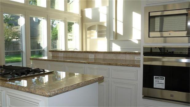 Modern Kitchen In Houston Vaulted Ceiling White Kitchen