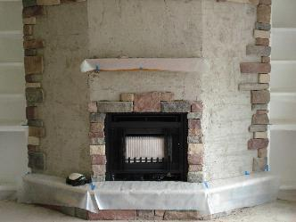 Gas Fireplace W Veneer Stone And Custom Cabinets Pictures
