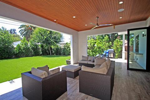 Contemporary Patio with interior hardwood flooring continued
