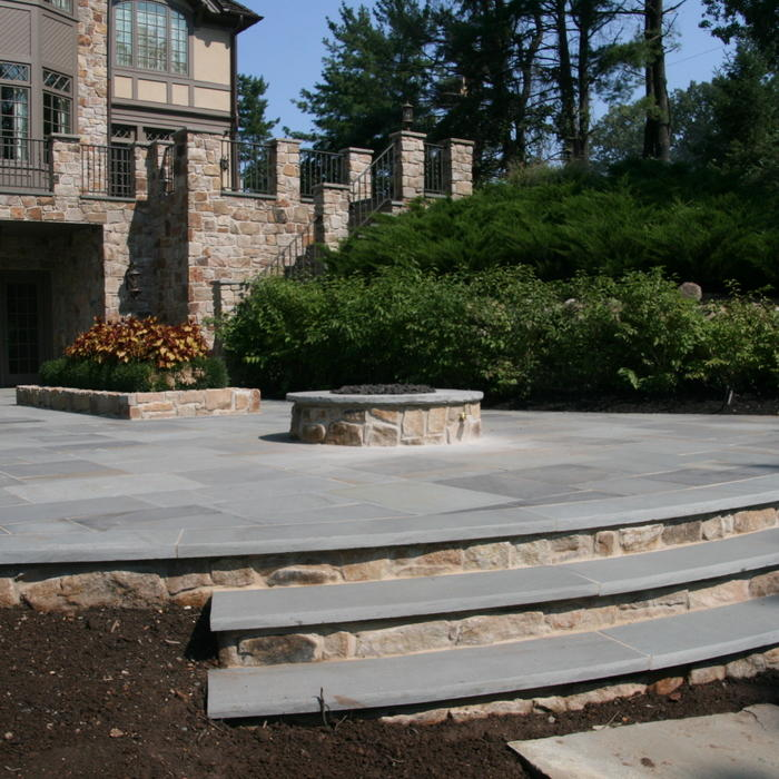 concrete design pavers vs cost stamped patio home ideas flagstone versus of
