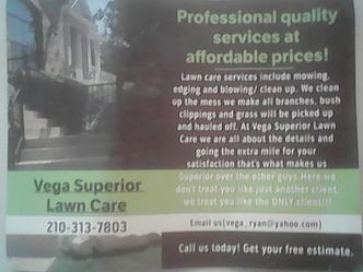 Vega Superior Lawn Care San Antonio Tx 78254 Homeadvisor