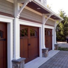 Rustic Garage with small windows on garage doors
