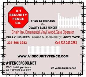 A1 Security Fence Church Point La 70525 Homeadvisor
