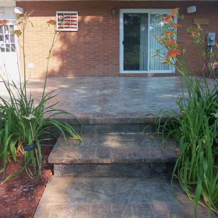 Designing A Stamped Concrete Patio Requires Little More Than Your Imagination However As Custom Designs Get Bit Expensive Many Contractors Have