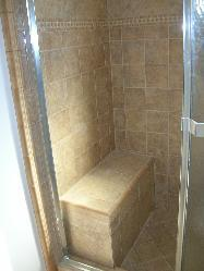 Bathroom - shower with bench Pictures and Photos