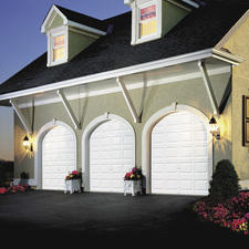 Traditional Garage with outdoor sconce lighting