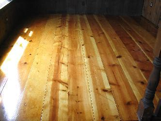 Antique Wide Plank Yellow Pine Wood Floor Refinish