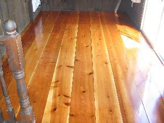 Antique Wide Plank Yellow Pine Wood Floor Refinish