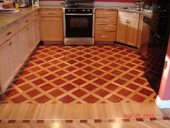 Kitchen in Brazilian Cherry and White Oak Hardwood Pictures and Photos
