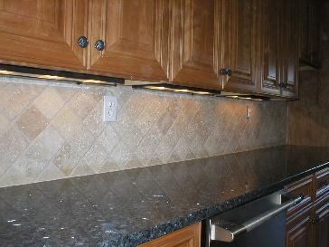 stone diagonal backsplash pictures and photos