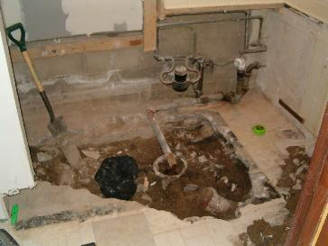 Install a basement bathroom pictures and photos for 1 bathroom septic tank
