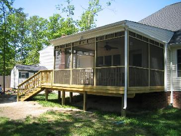 12x16 Screen Porch W Deck Pictures And Photos