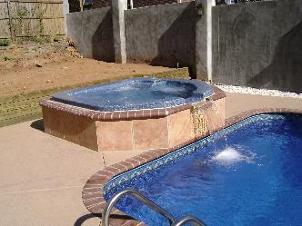 A True L Vinyl Liner Sport Pool And Spill Over Spa