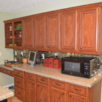 Transitional Kitchen in Nashville - tan wall paint, stainless steel